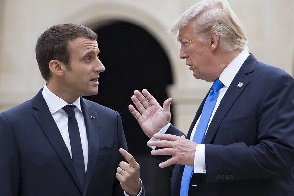 ترامپ درباره تصمیم برجامی ایران با رئیس جمهور فرانسه مصاحبه کرد
