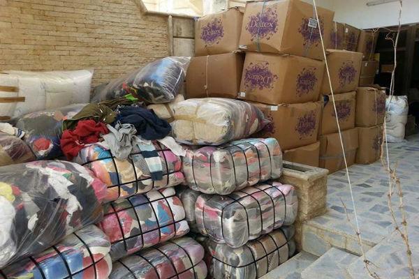 توزیع کمک های بشردوستانه روسیه در میان ساکنان درعا سوریه