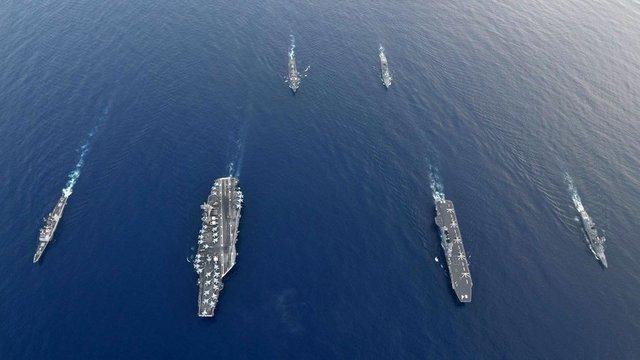 برگزاری رزمایش دریایی آمریکا و ژاپن در بحبوحه افزایش تنش ها با چین