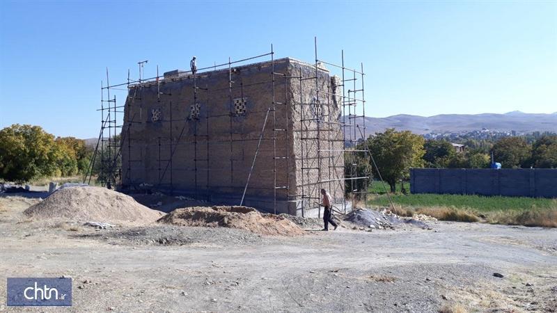 شروع عملیات مرمت برج کبوترخانه خسروی در روستای قودجان