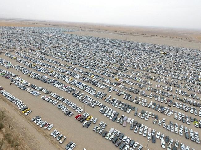 پارکینگ بزرگ اربعین مهران در مرز تکمیلی
