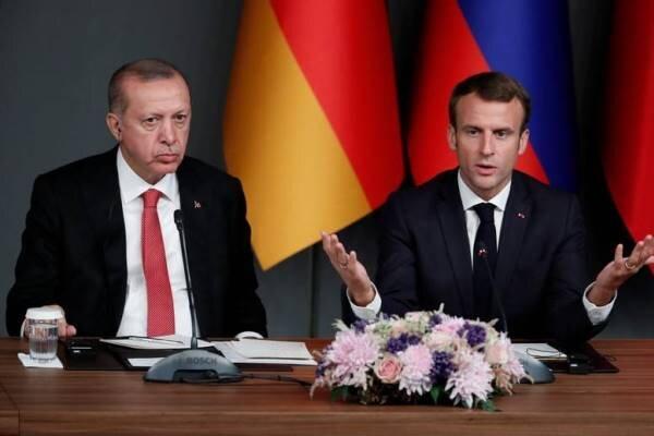اردوغان و ماکرون درباره سوریه رایزنی کردند