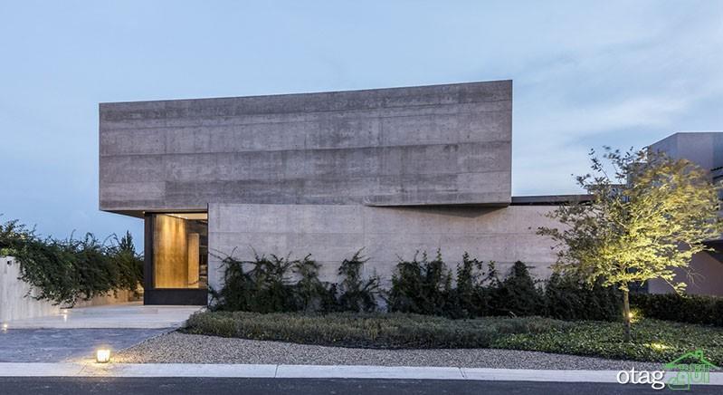 30 مدل نمای بتنی ویلا به سبک معماری بروتالیست و مدرن