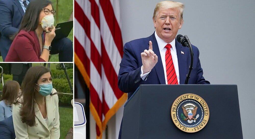 تصویر رفتار و حرف های زننده ترامپ باردیگرسوژه رسانه ها شد:این سوال را از من نپرس،این سوال را از چین بپرس؛باشد؟!، مردم در هر شرایطی می میرند، عکس