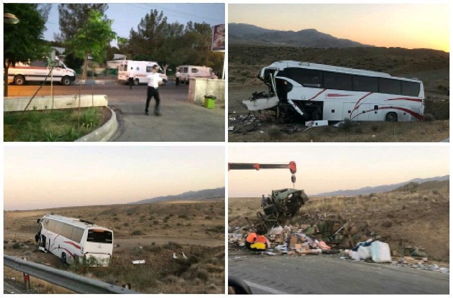 تصادف در آزادراه ساوه-همدان با 19 مصدوم