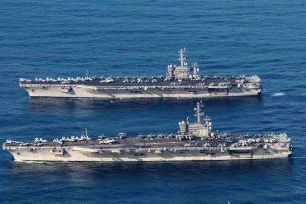 آمریکا دو فروند ناو هواپیمابر به دریای چین جنوبی اعزام می کند