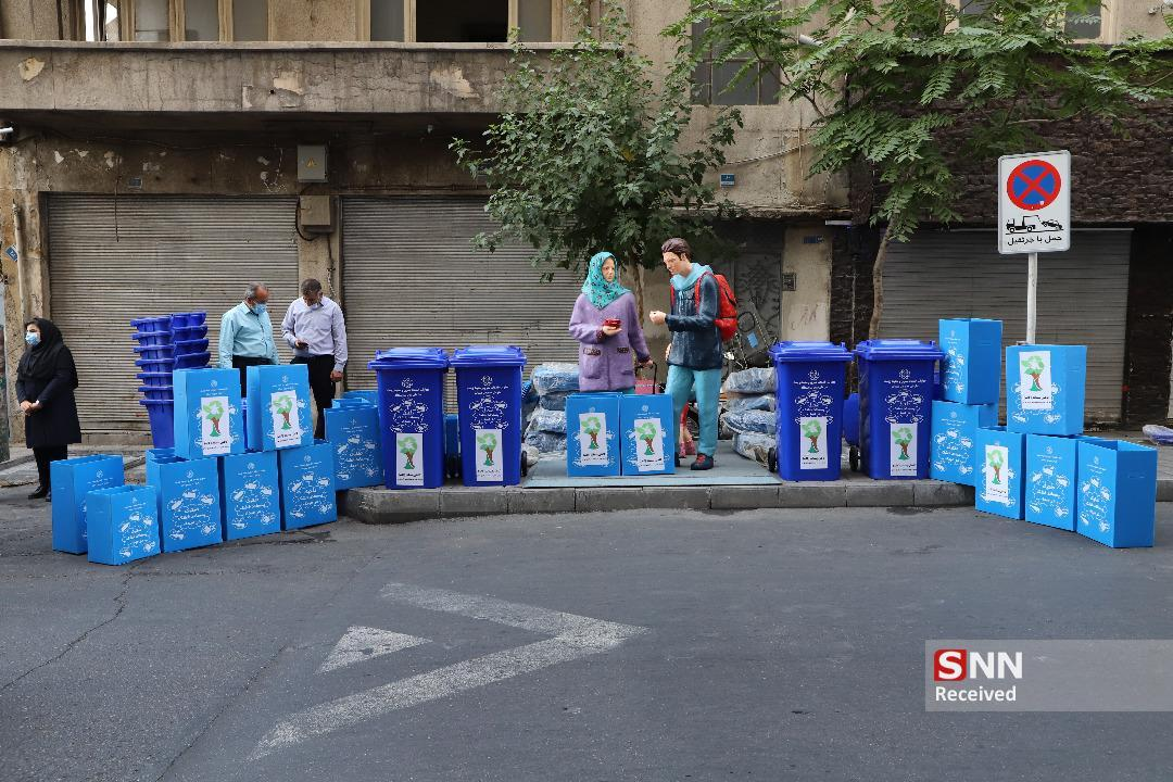 پیشبرد طرح کاپ با جمع آوری مخازن 1100 لیتری در خیابان بهار جنوبی