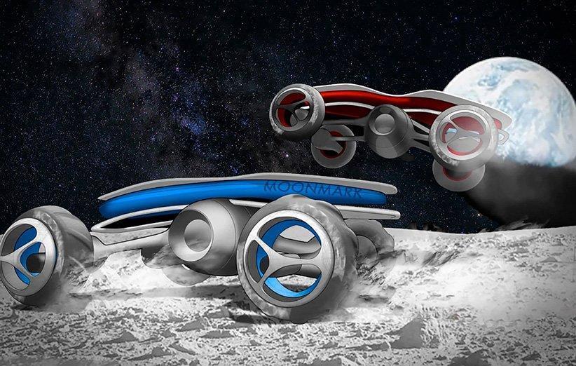 دانش آموزان با ماشین های کنترلی در ماه به رقابت می پردازند