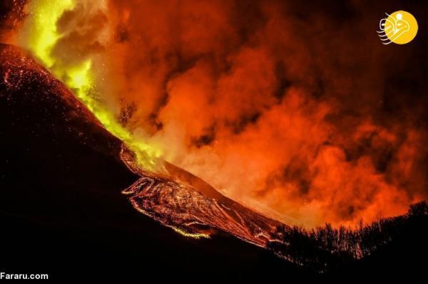 (تصاویر) فوران های اخیر آتشفشان اتنا