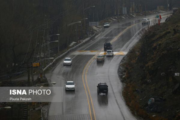 برف و باران در جاده های 3 استان