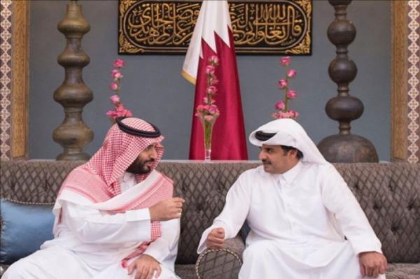 گفتگوی تلفنی امیر قطر با بن سلمان پس از انتها اختلافات