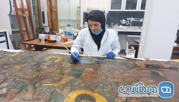 بازسازی تابلو نقاشی قهوه خانه ای کاخ گلستان تا انتها تیر تمام می گردد