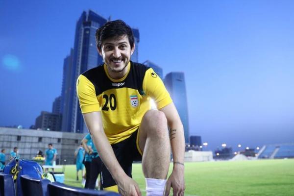 تمرین شبانه ایران در استادیوم النجمه منامه