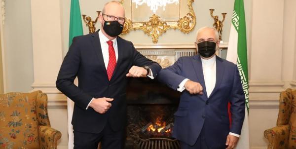 ظریف با همتای ایرلندی ملاقات کرد